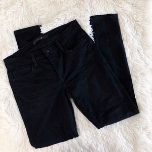 JOE'S JEANS black denim Nora skinny ankle jeans
